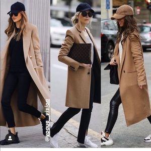Zara wool blend coat bloggers favorite